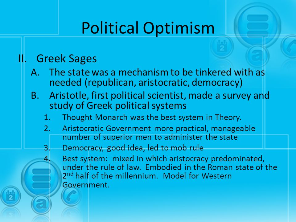 Political Optimism Greek Sages