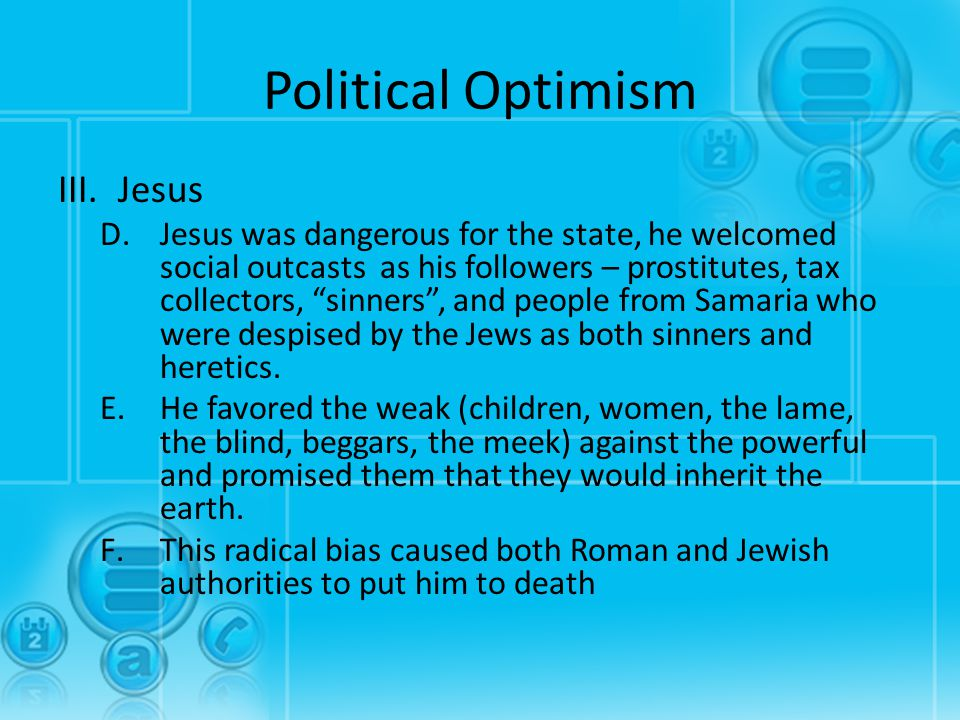 Political Optimism Jesus