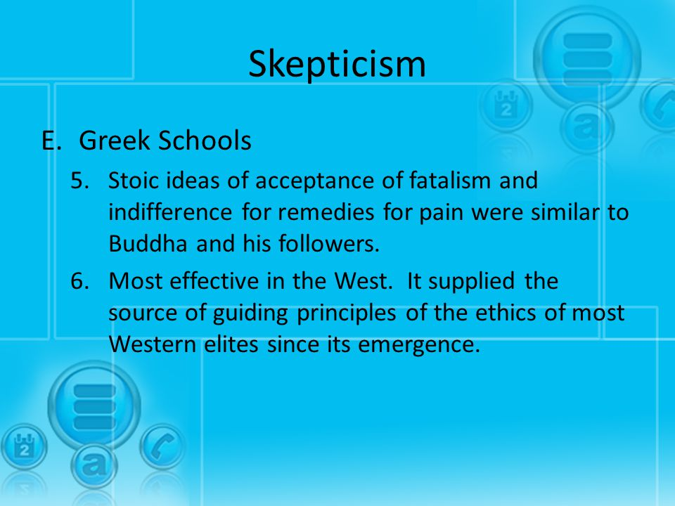 Skepticism Greek Schools