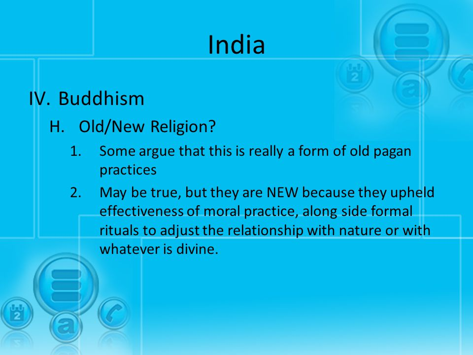 India Buddhism Old/New Religion