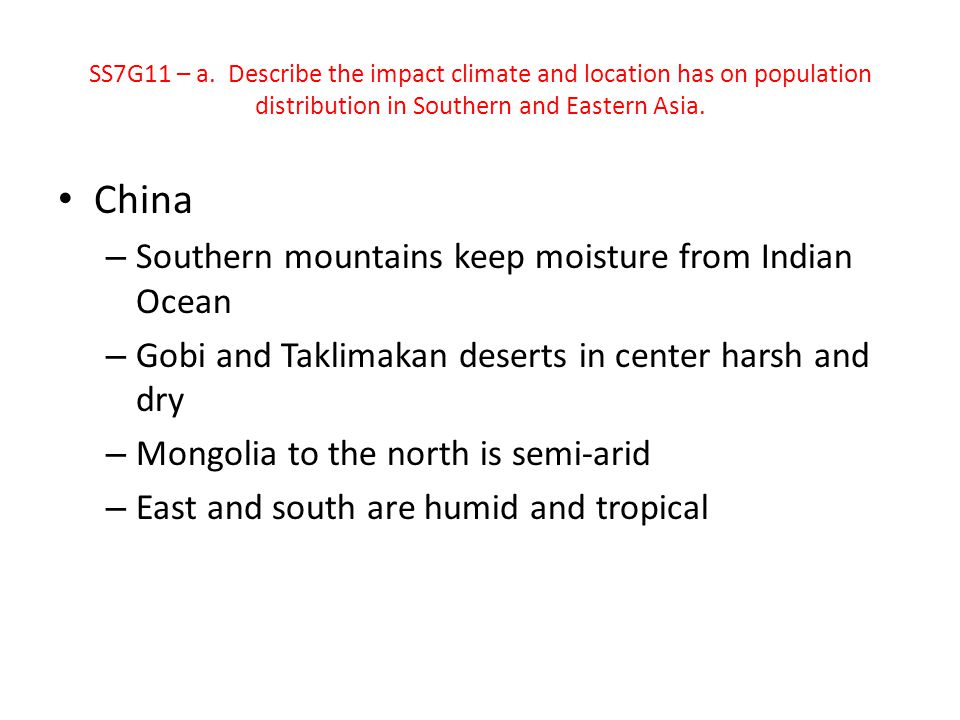 China Southern mountains keep moisture from Indian Ocean