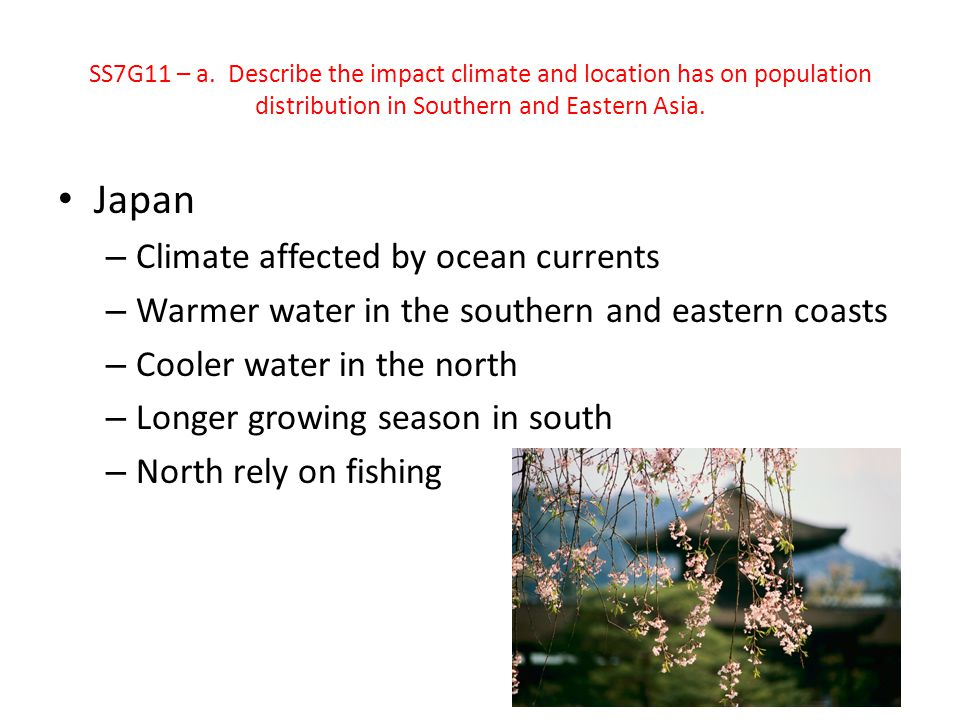 Japan Climate affected by ocean currents