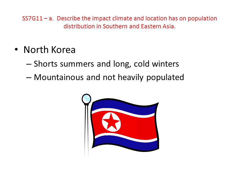 North Korea Shorts summers and long, cold winters