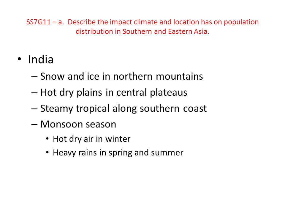 India Snow and ice in northern mountains