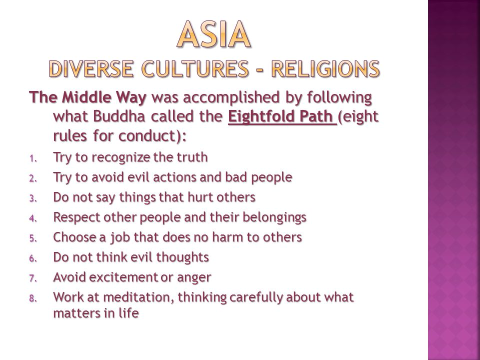 ASIA diverse cultures - Religions
