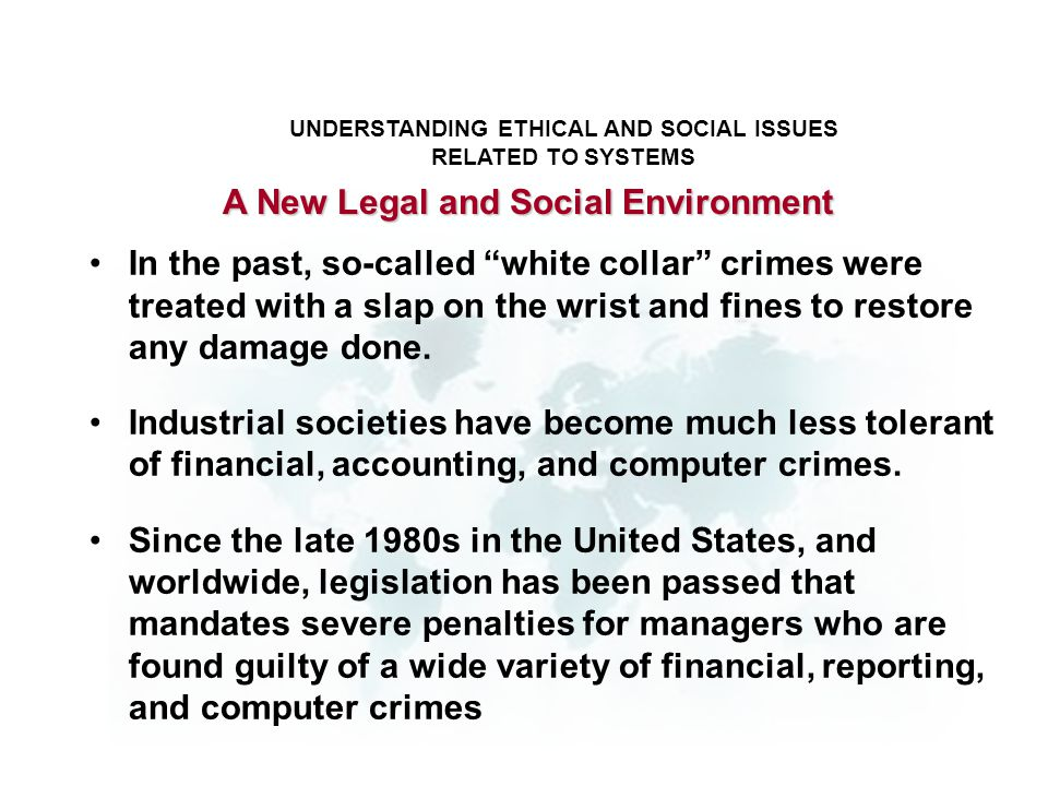 A New Legal and Social Environment