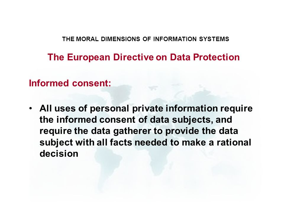 The European Directive on Data Protection