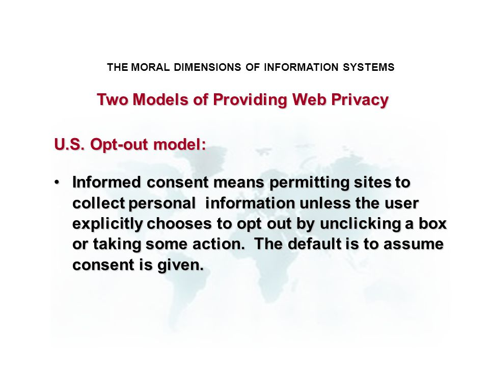 Two Models of Providing Web Privacy