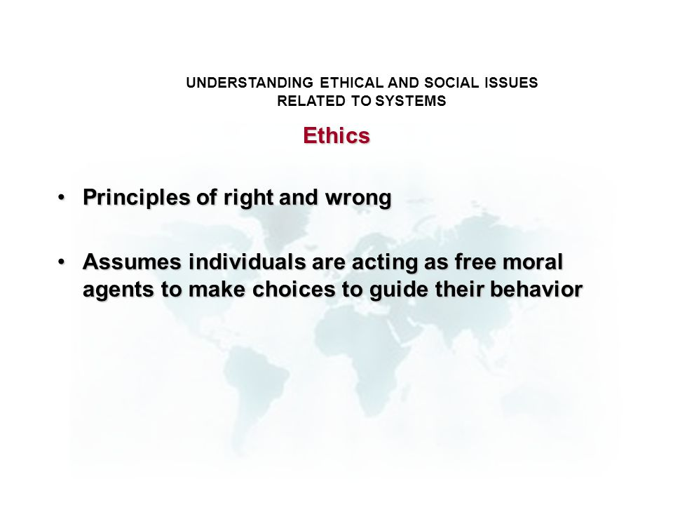 ethical and social issues in the digital firm Understanding ethical and social issues related to systems • recent cases of  failed ethical  permits individuals (and firms) to recover damages done to them  • due process:  digital media different from physical media (eg, books.