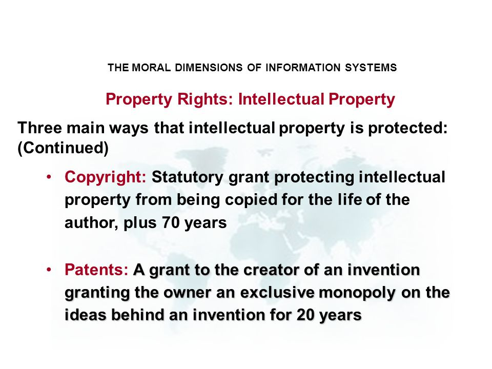 Property Rights: Intellectual Property