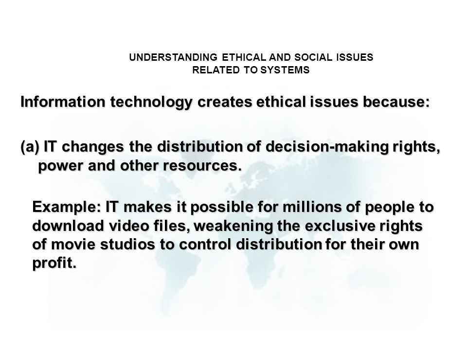 UNDERSTANDING ETHICAL AND SOCIAL ISSUES