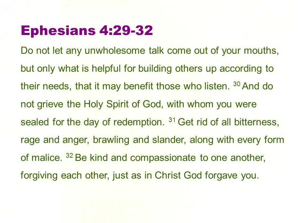 Ephesians 4:29-32
