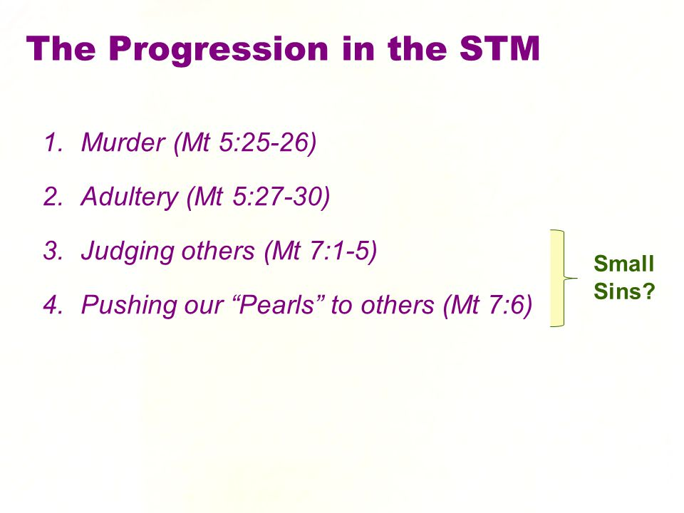 The Progression in the STM