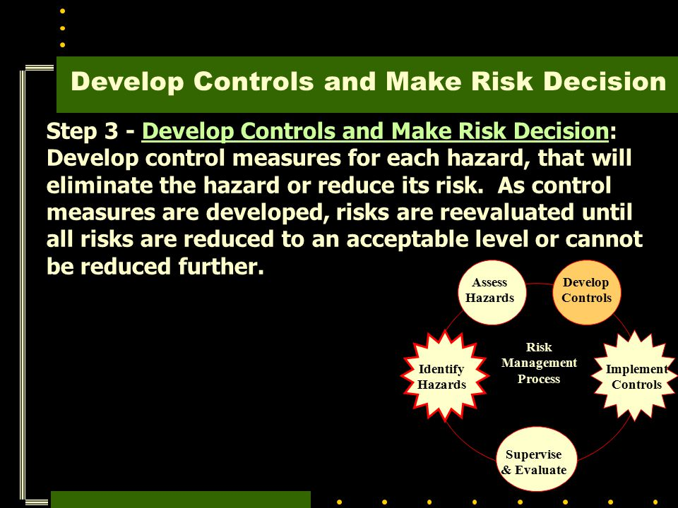 Develop Controls and Make Risk Decision