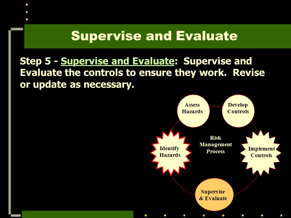 Supervise and Evaluate