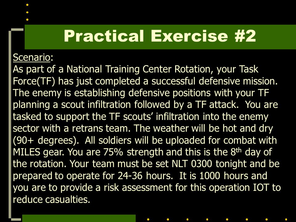 Practical Exercise #2 Scenario: