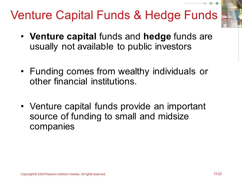 Venture Capital Funds & Hedge Funds