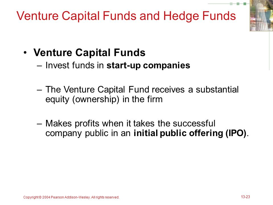 Venture Capital Funds and Hedge Funds