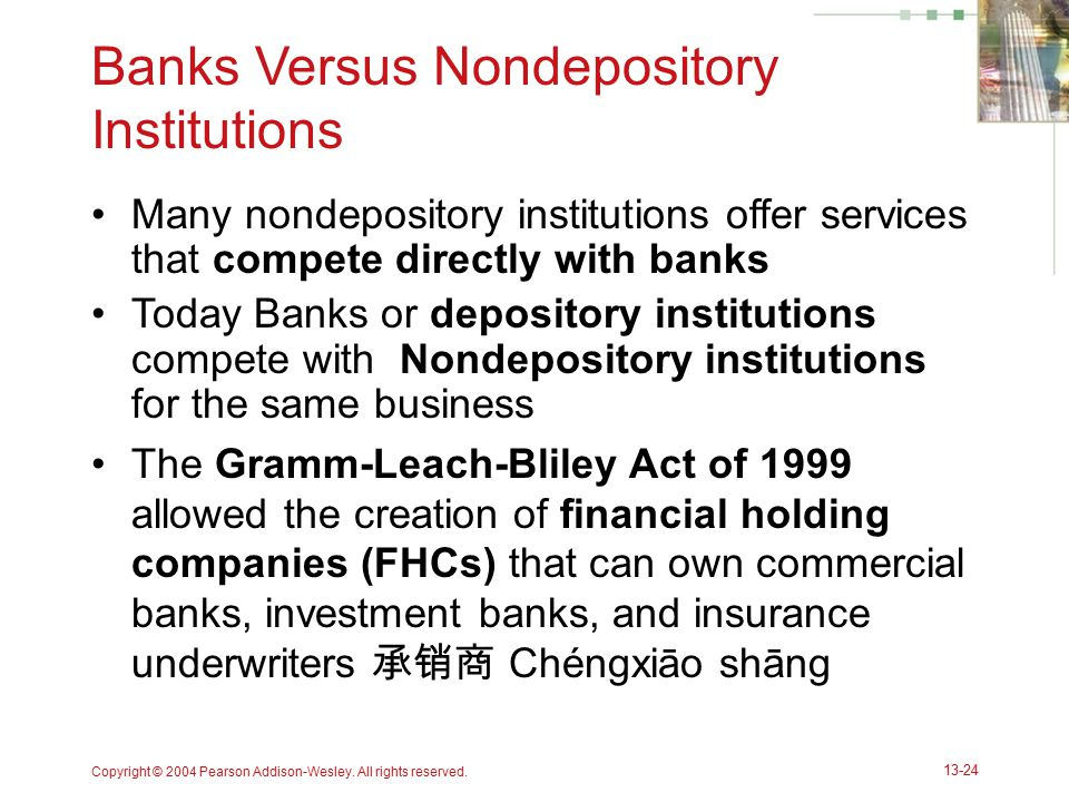 Banks Versus Nondepository Institutions