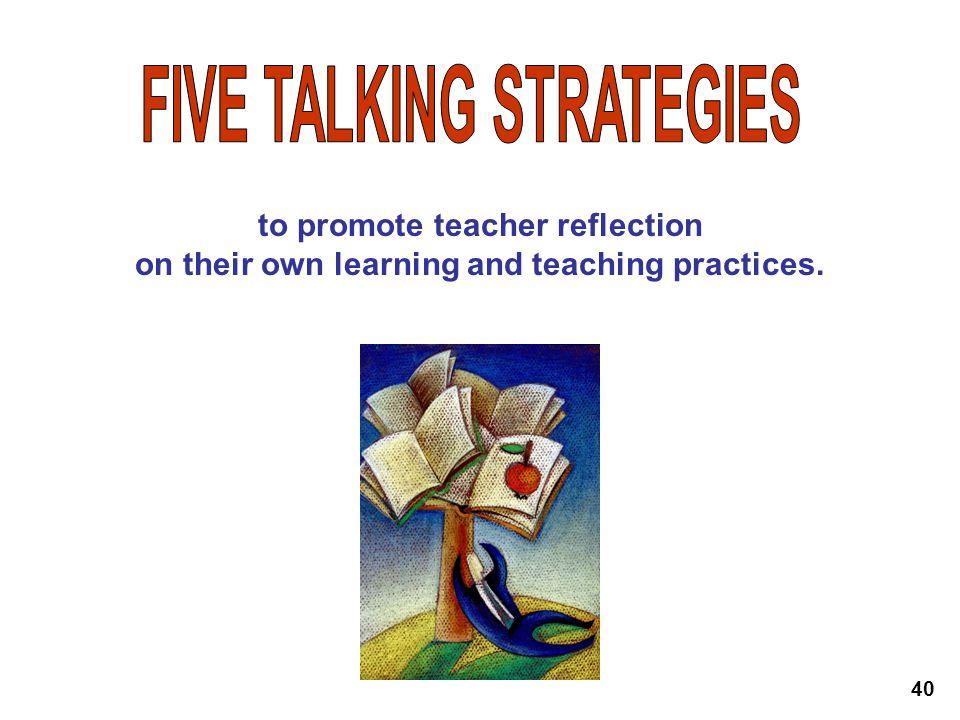 FIVE TALKING STRATEGIES
