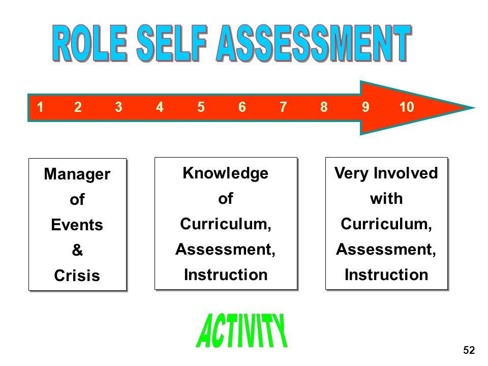 Curriculum, Assessment,