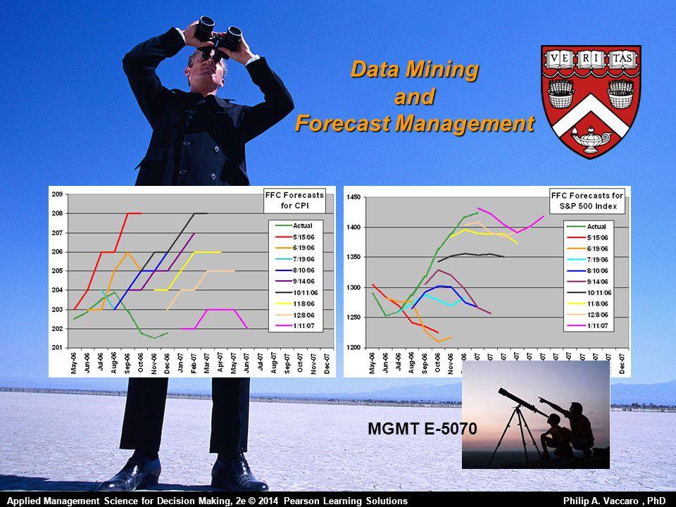Data Mining and Forecast Management