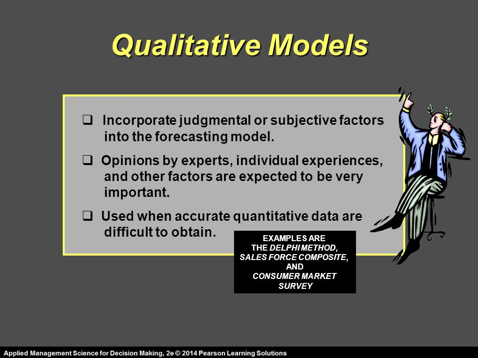 Qualitative Models Incorporate judgmental or subjective factors