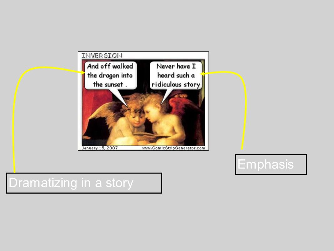 Emphasis Dramatizing in a story