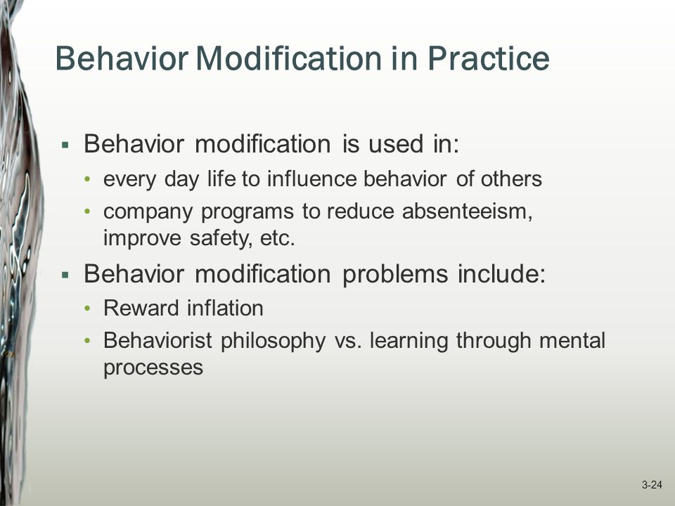 Behavior Modification in Practice