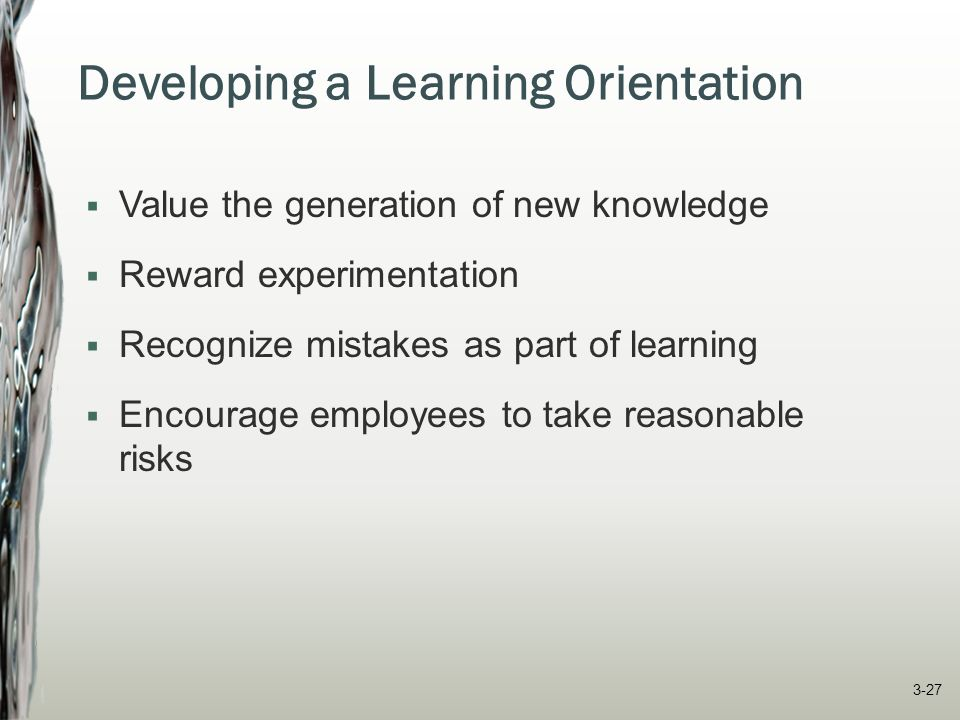Developing a Learning Orientation