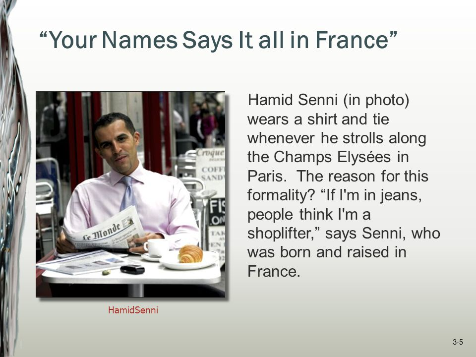 Your Names Says It all in France