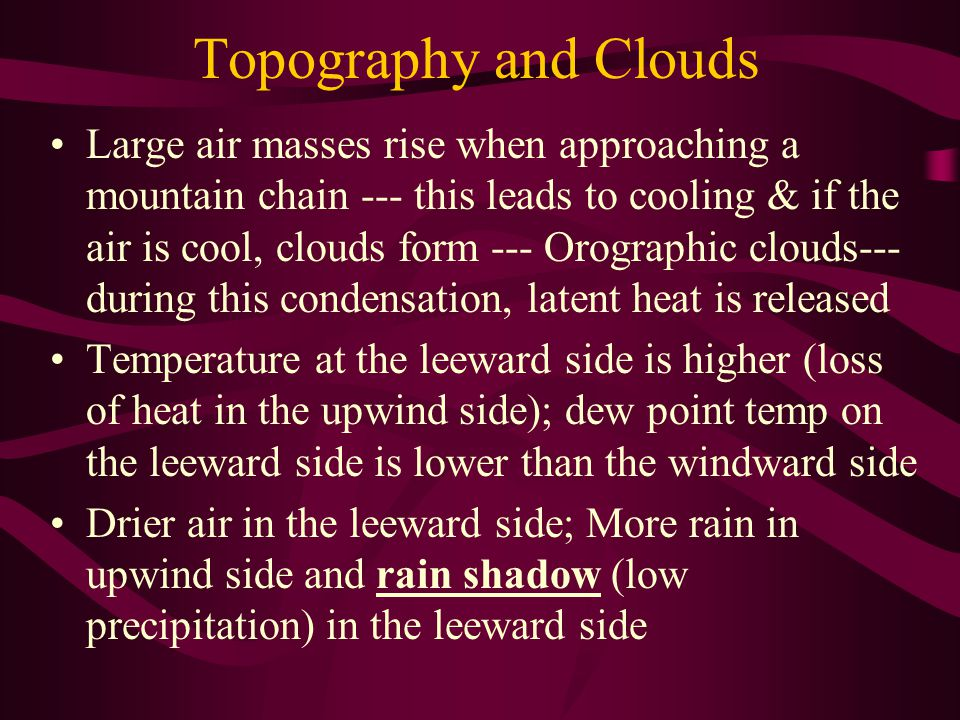 Topography and Clouds