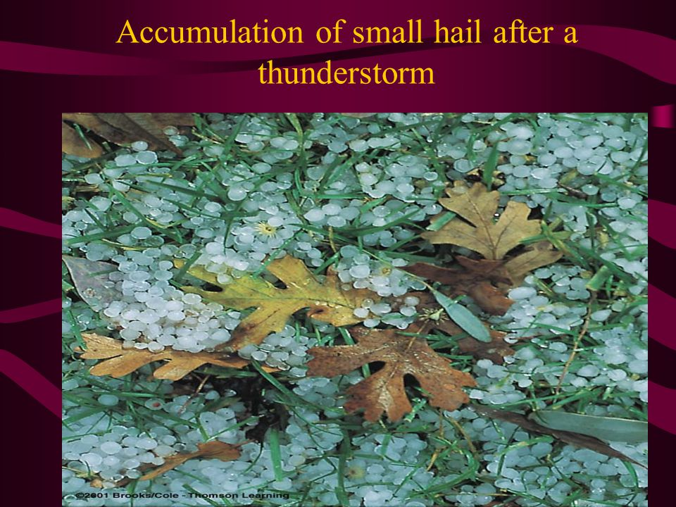 Accumulation of small hail after a thunderstorm