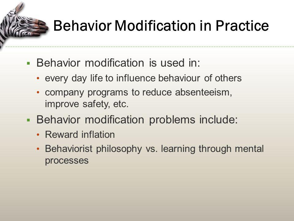 Behavior Modification in Practice