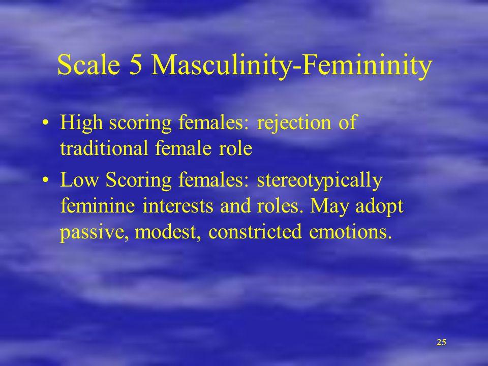 Scale 5 Masculinity-Femininity