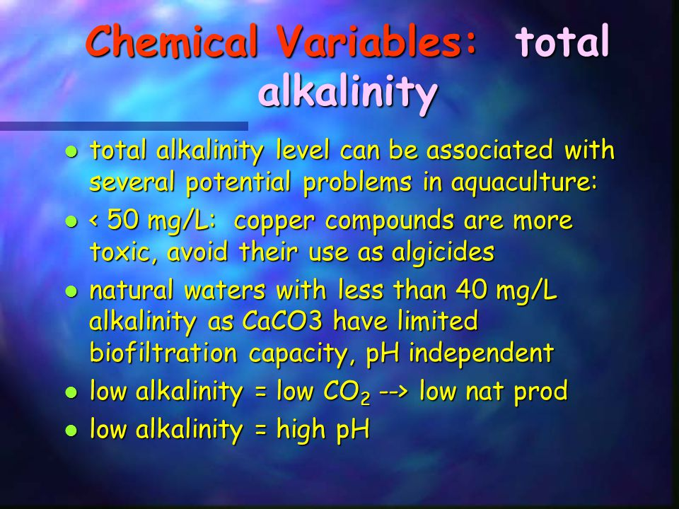 Chemical Variables: total alkalinity