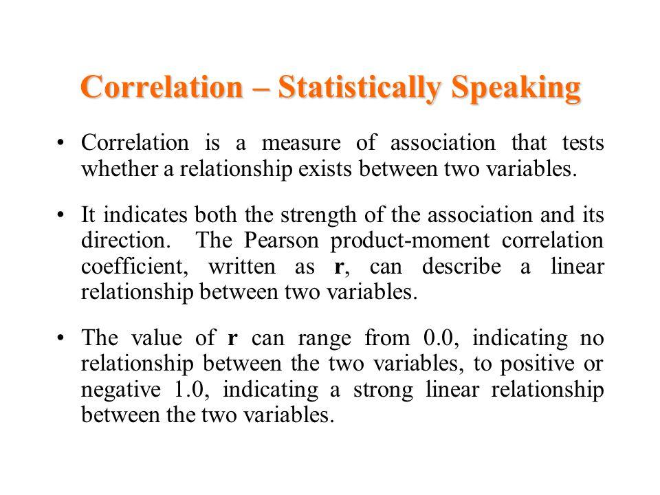 Correlation – Statistically Speaking