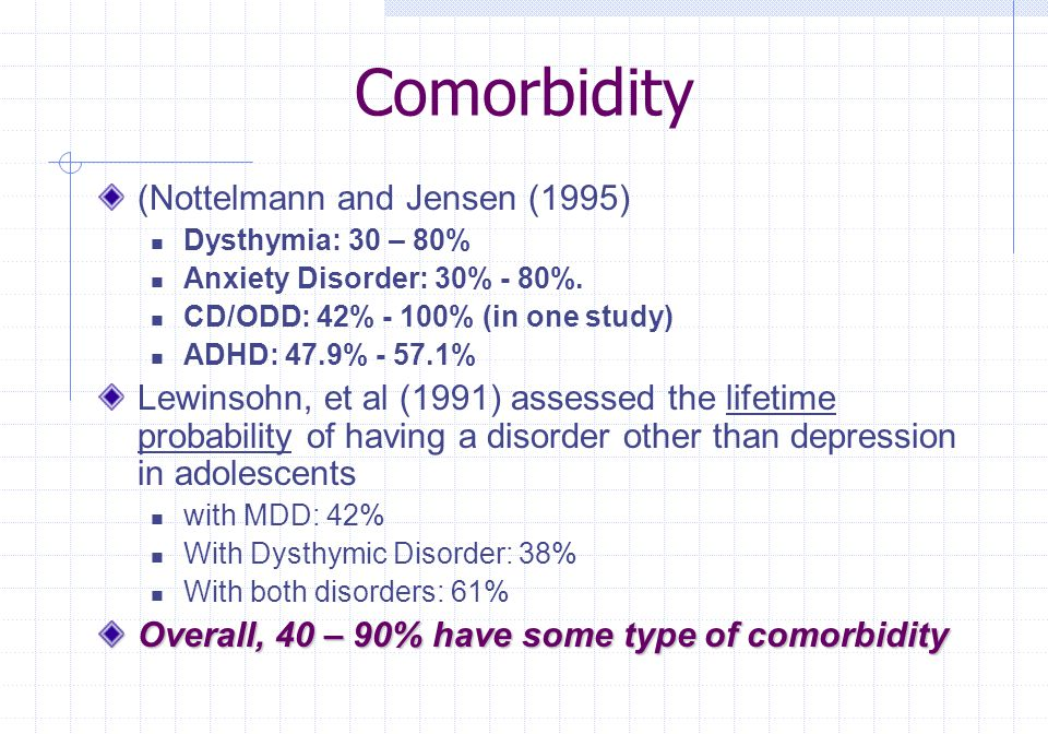 Comorbidity (Nottelmann and Jensen (1995)