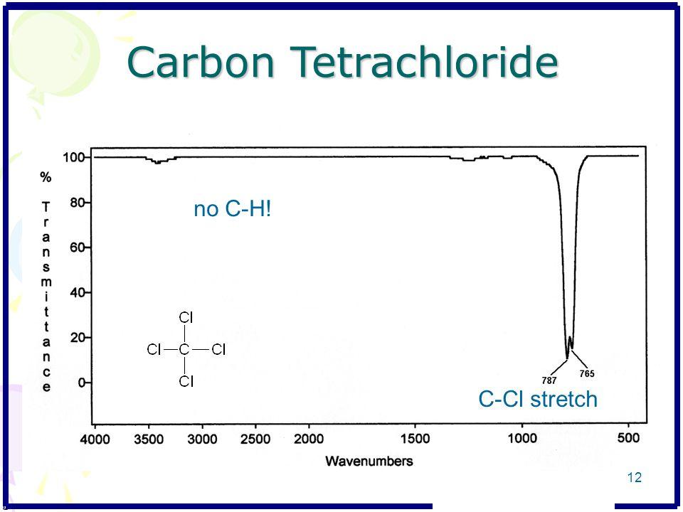 Carbon Tetrachloride no C-H! C-Cl stretch