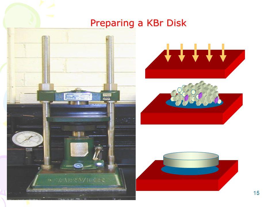 Preparing a KBr Disk