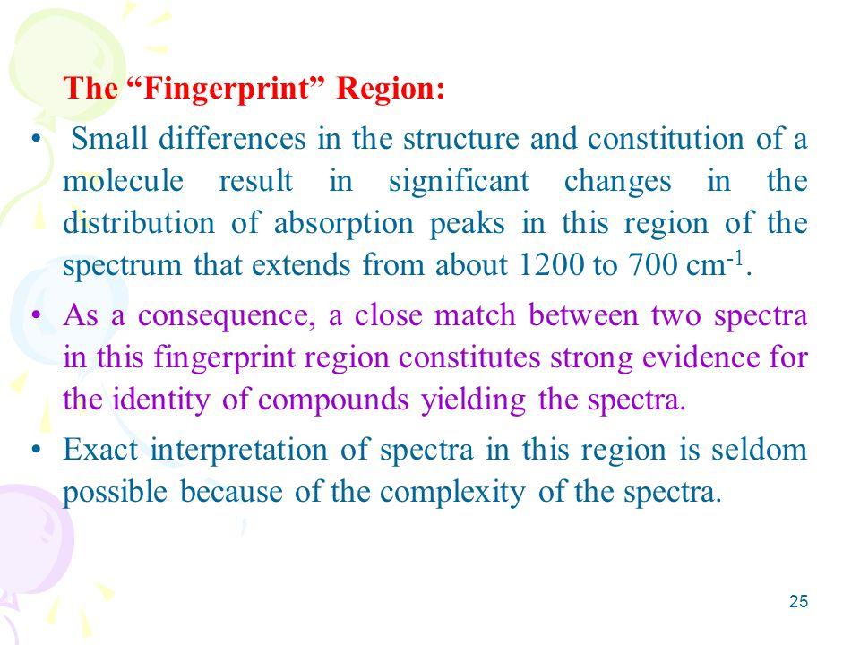 The Fingerprint Region: