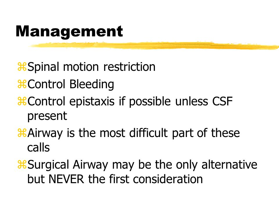 Management Spinal motion restriction Control Bleeding