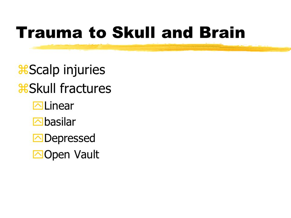 Trauma to Skull and Brain