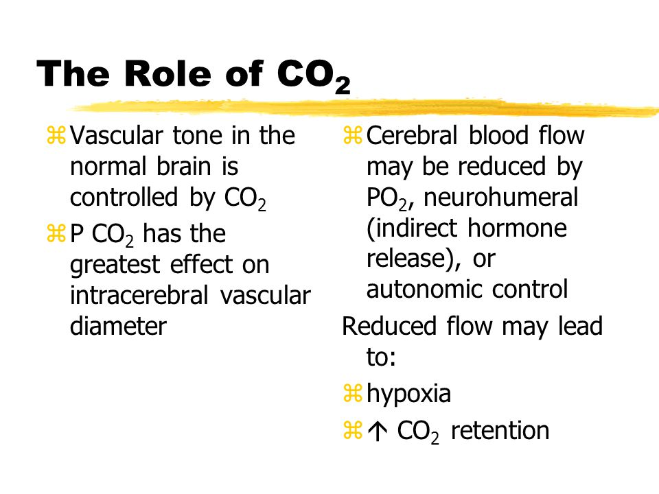 The Role of CO2 Vascular tone in the normal brain is controlled by CO2
