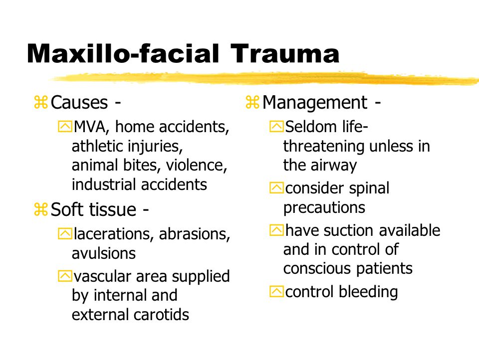 Maxillo-facial Trauma