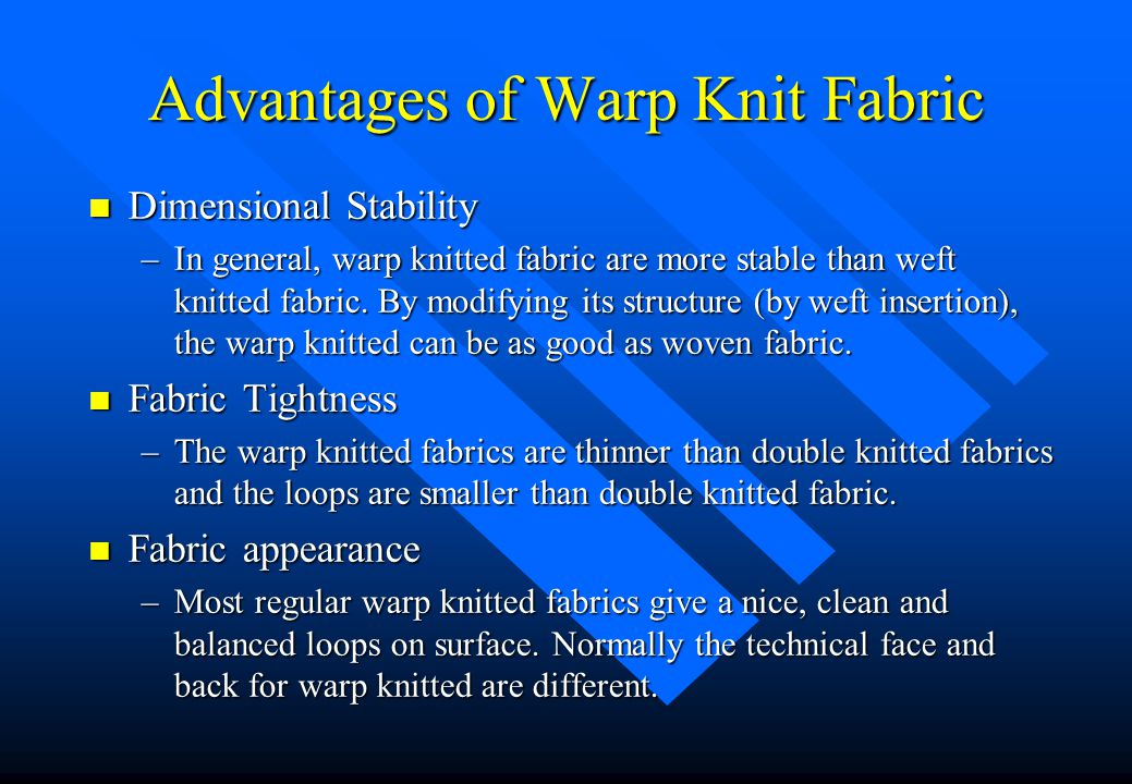 Advantages of Warp Knit Fabric