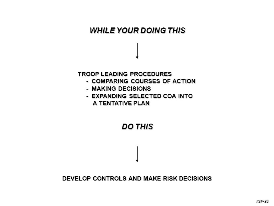 DEVELOP CONTROLS AND MAKE RISK DECISIONS