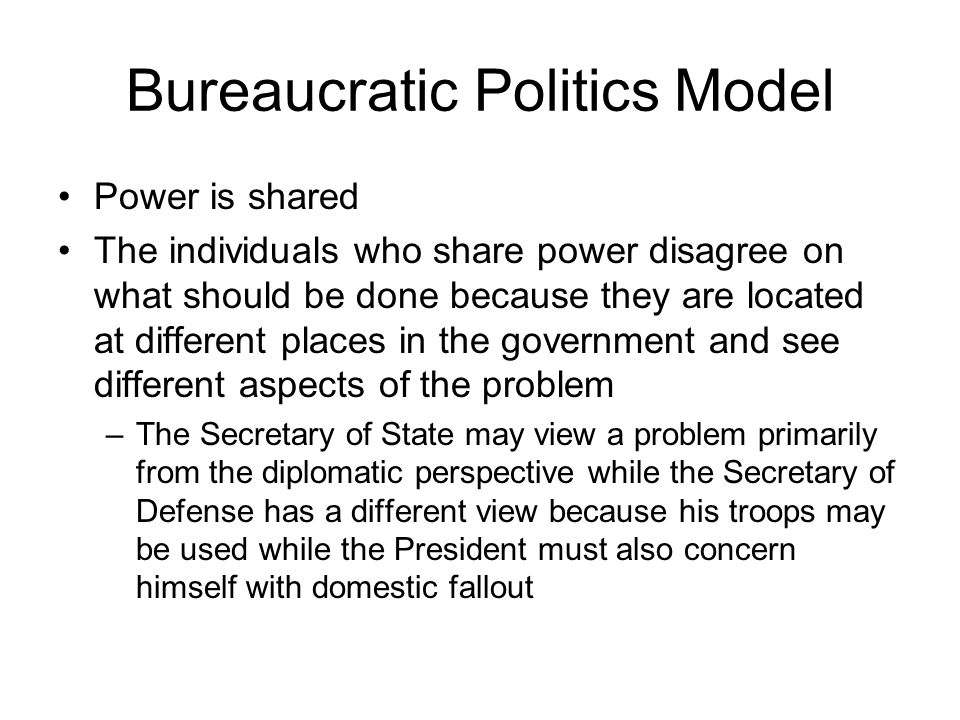 Bureaucratic Politics Model