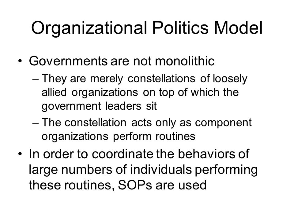 Political modle of organization