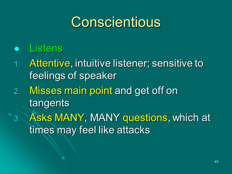 Conscientious Listens